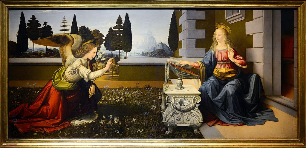 Annunciation by Leonardo